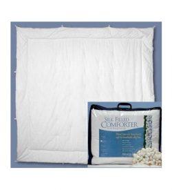 White Loft Cotton/Silk Filled Comforter - Twin