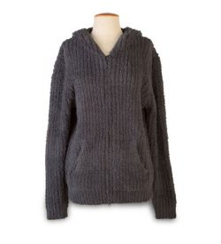 Barefoot Dreams 544 Cozy Chic Men's Ribbed Hoodie